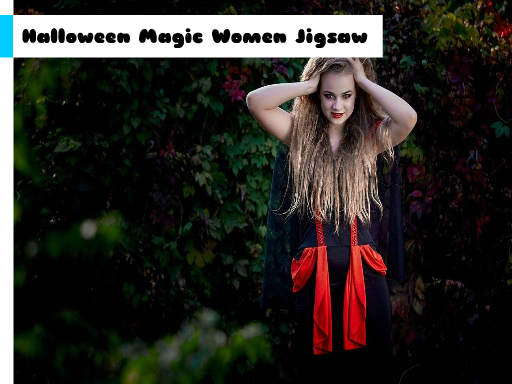 Play Halloween Magic Women Jigsaw Game