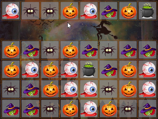 Play Halloween Match 3 Deluxe Game