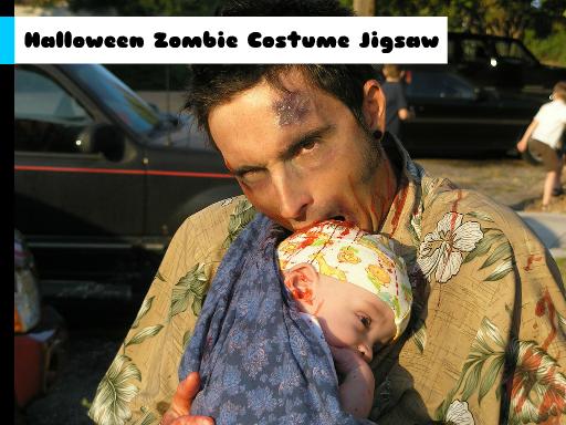 Play Halloween Zombie Costume Jigsaw Game