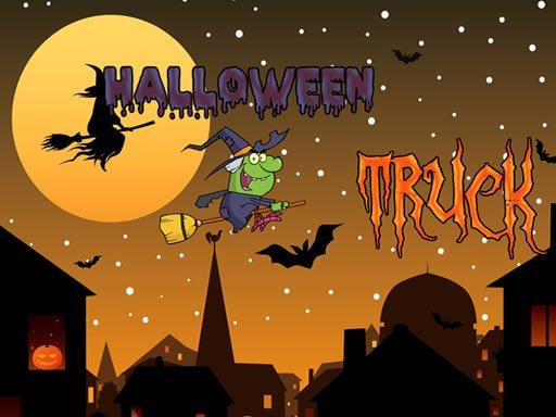 Play Halloween Trucks Jigsaw Game