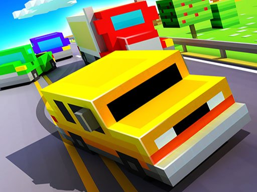 Play Blocky Highway: Traffic Racing Game