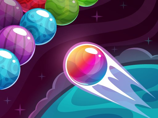 Play Bubble Shooter Colored Planets Game