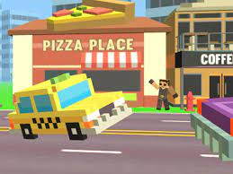 Play Pixel Road Taxi Depot Game